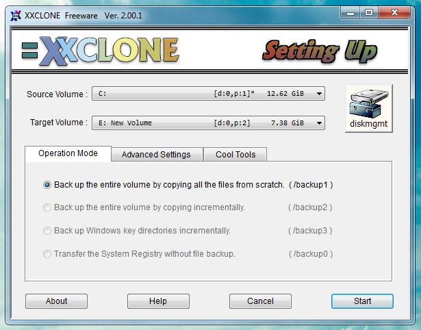 XXCLONE - программа для клонирования системных разделов на другой жесткий диск (1)