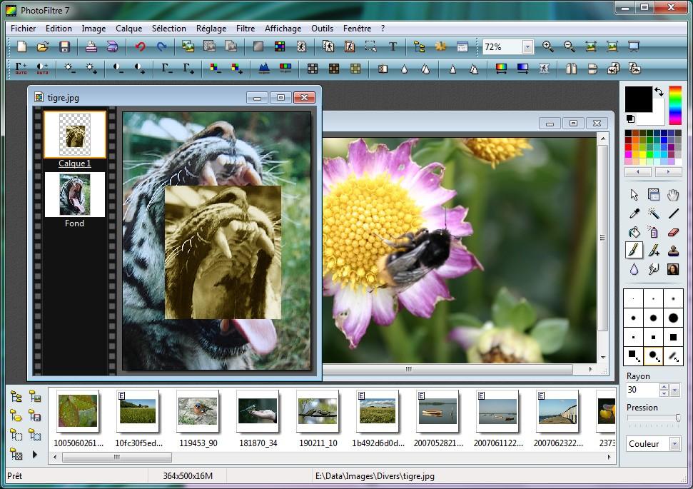 Photofiltre - быстрый портабельный редактор изображений