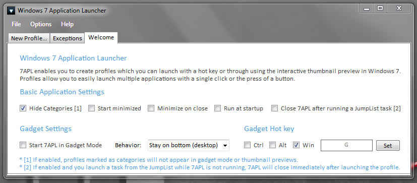 Windows 7 App Launcher - запуск набора приложений одним кликом (5)