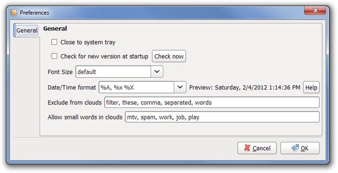 RedNotebook - записная книжка с календарем, форматированием текста и облаком тегов (4)