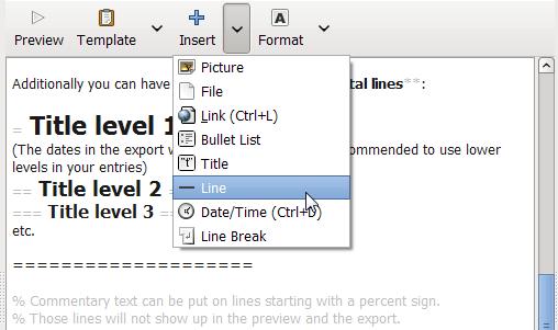 RedNotebook - записная книжка с календарем, форматированием текста и облаком тегов (2)