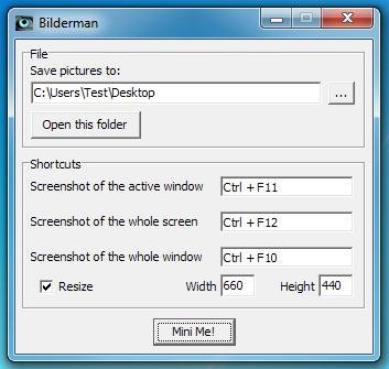 Bilderman - минималистичный скриншотмейкер с автоматическим изменением размеров скриншотов
