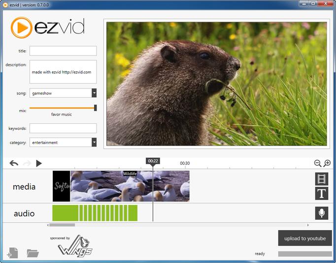 Ezvid - простой видео-редактор для создания любительских роликов с отправкой в YouTube (1)