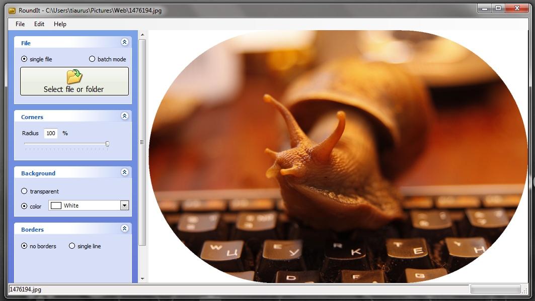 RoundIt - программа для создания закругленных углов у изображений