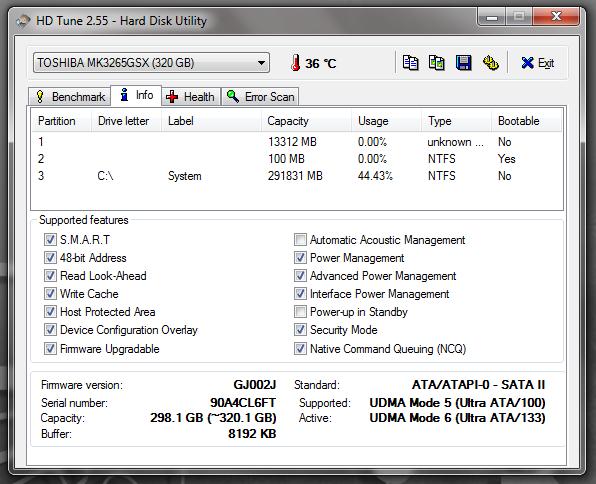 HD Tune - утилита для тестирования жестких дисков (2)