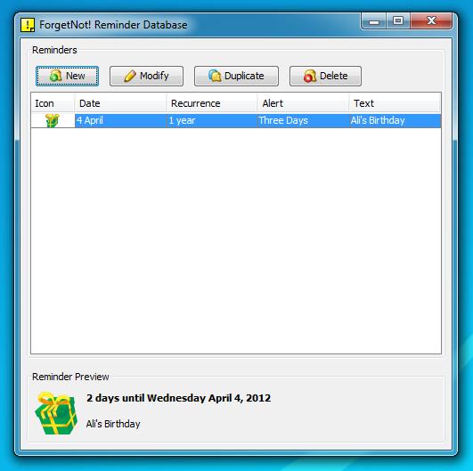 ForgetNot! - простой напоминатель со всплывающими уведомлениями (2)