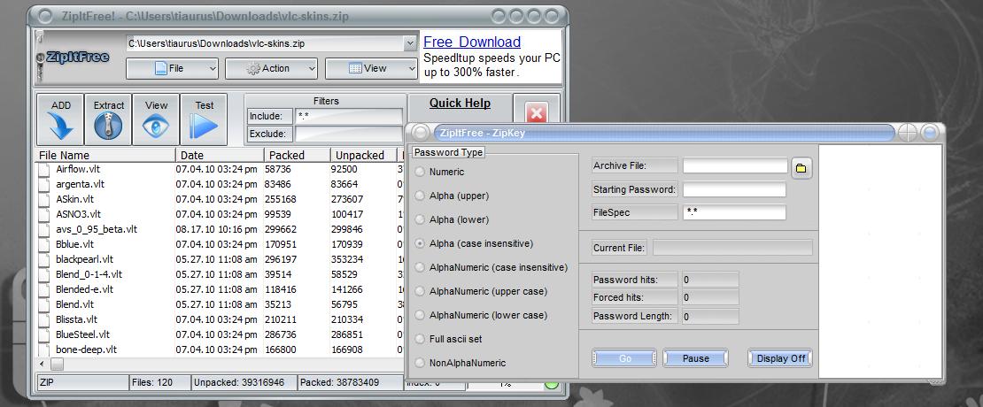 ZipItFree - бесплатный архиватор с поддержкой множества форматов (3)