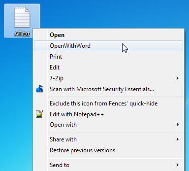 ContextEdit - открытие файлов любых типов с помощью команд контекстного меню (1)