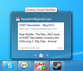 Kwerty Gmail Notifier - уведомления о новой почте с предпросмотром (3)