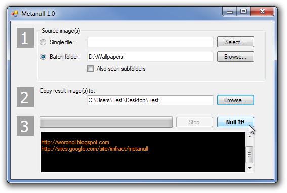 Metanull - программа пакетного удаления мата-данных из изображений (2)