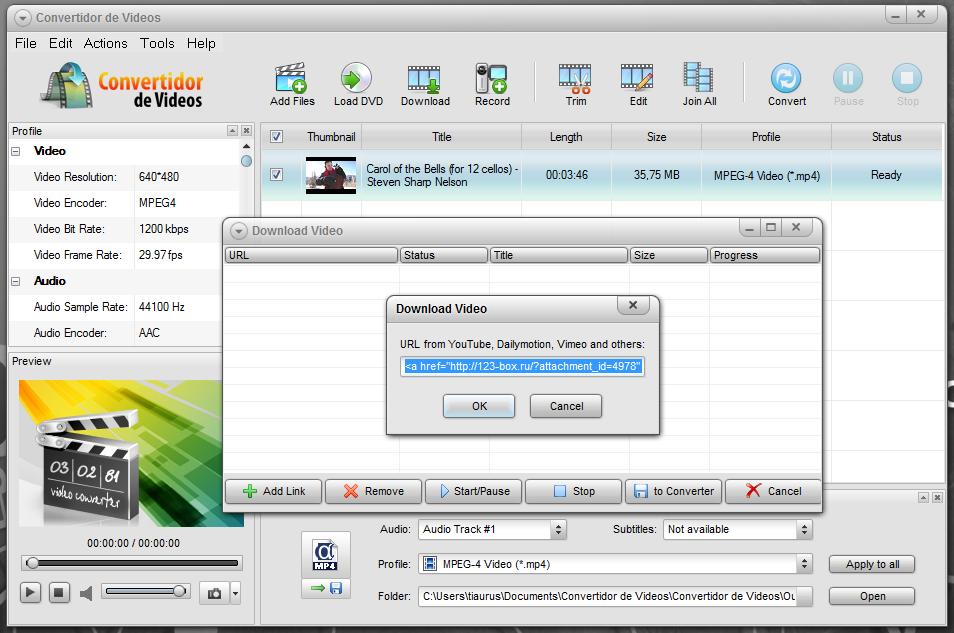Convertidor de Videos - универсальный видео конвертер с загрузкой из интернета (4)