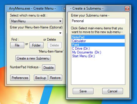 AnyMenu - программа для создания произвольного всплывающего меню (2)