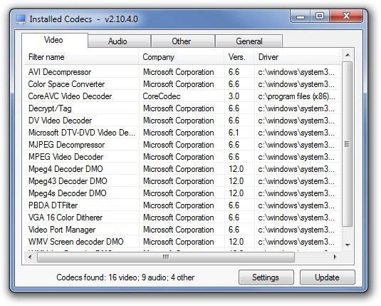 CodecInstaller - автоматическое определение и установка кодеков (3)