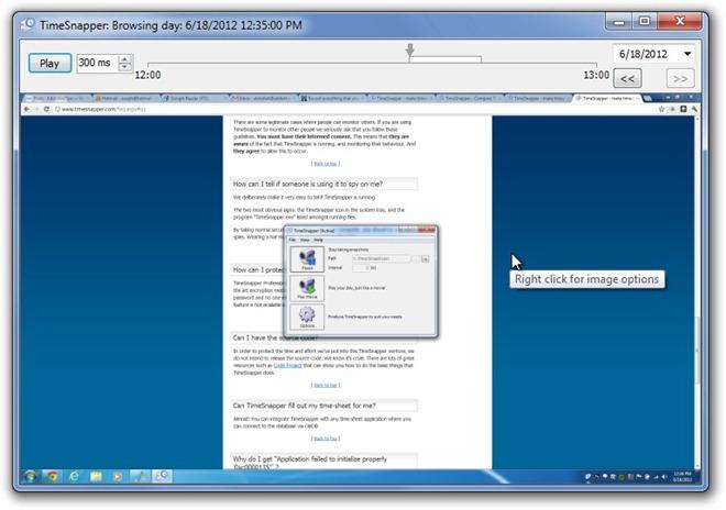 TimeSnapper - непрерывная запись скриншотов экрана компьютера (2)