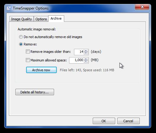 TimeSnapper - непрерывная запись скриншотов экрана компьютера (3)