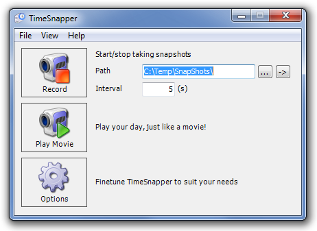 TimeSnapper - непрерывная запись скриншотов экрана компьютера (4)