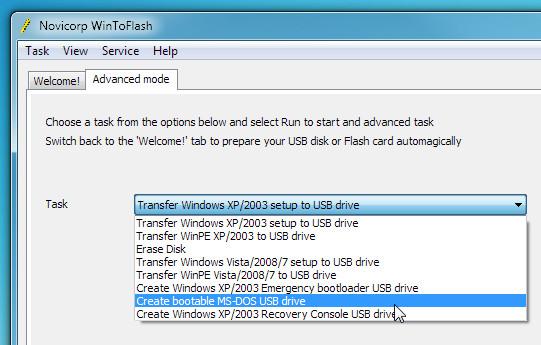 Как сделать установочную загрузочную флешку с Windows 7 / WinToFlash (3)