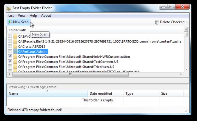 Fast Empty Folder Finder - программа для быстрого поиска и удаления пустых папок (3)