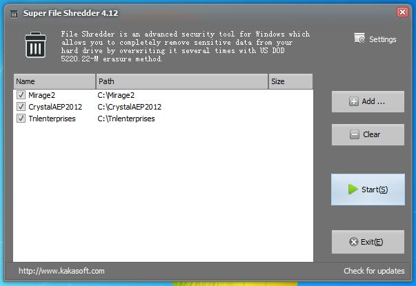 Super File Shredder - утилита для безвозвратного удаления файлов (3)