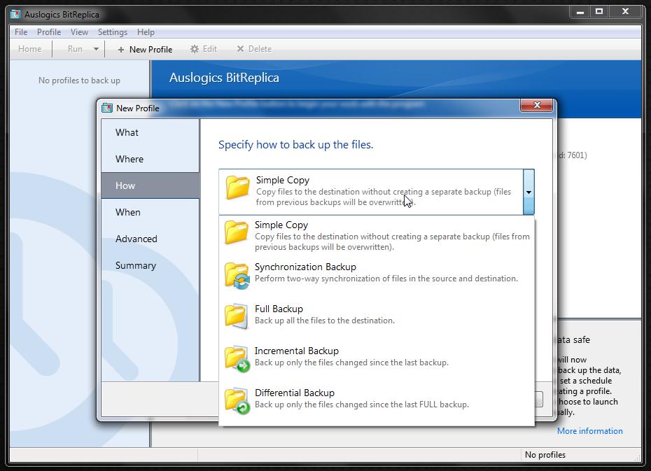 BitReplica - программа для создания резервных копий пользовательских данных и удобного бэкапа (10)