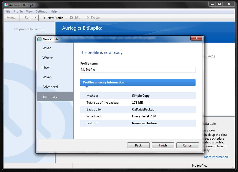 BitReplica - программа для создания резервных копий пользовательских данных и удобного бэкапа (4)