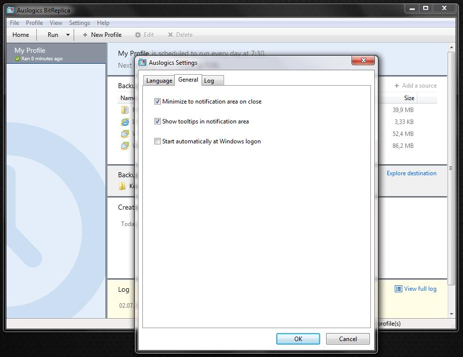 BitReplica - программа для создания резервных копий пользовательских данных и удобного бэкапа (1)
