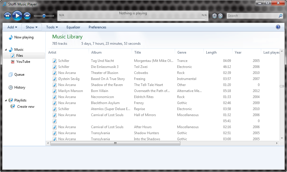 Stoffi Music Player - минималистичный музыкальный плеер в стиле Проводника Windows (8)
