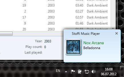 Stoffi Music Player - минималистичный музыкальный плеер в стиле Проводника Windows (6)