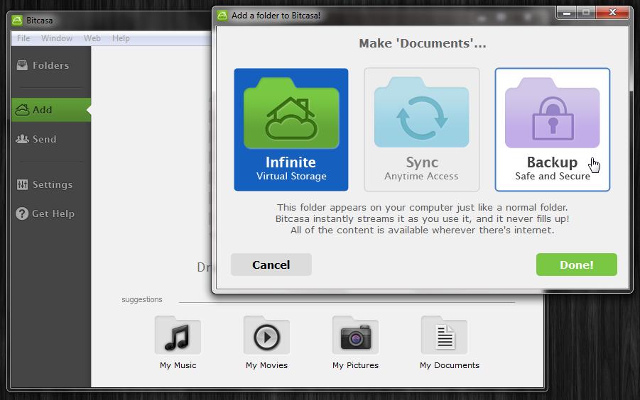Bitcasa - облачное хранилище для ваших файлов (7)