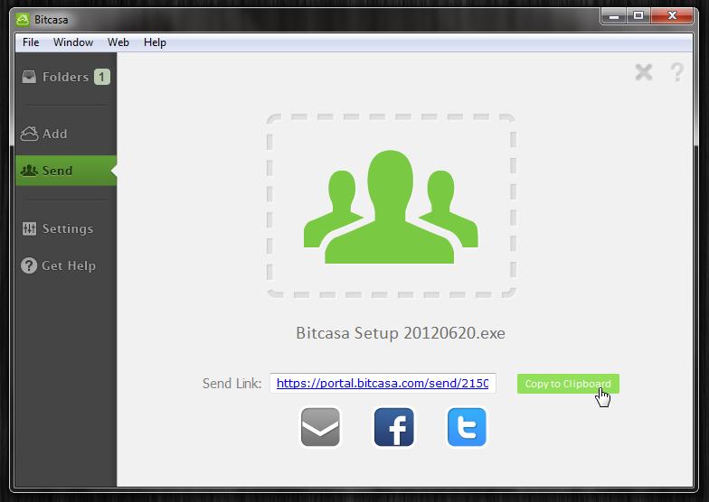 Bitcasa - облачное хранилище для ваших файлов (5)