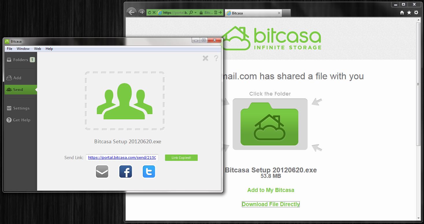 Bitcasa - облачное хранилище для ваших файлов (4)