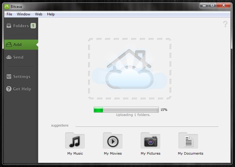 Bitcasa - облачное хранилище для ваших файлов (2)