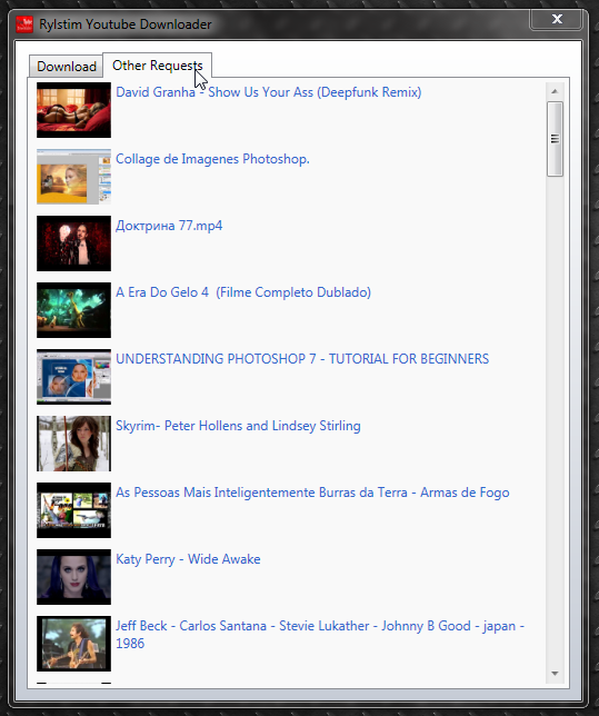 Rylstim YouTube Downloader - программа для скачивания роликов YouTube с высоким качеством (1)
