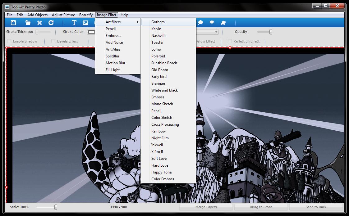 Toolwiz Pretty Photo - удобный редактор фотографий со множеством встроенных фильтров и эффектов (4)