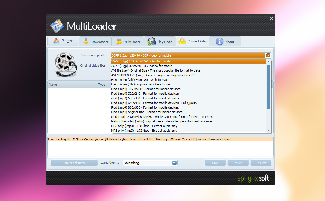 MultiLoader - программа для пакетного скачивая видео из интернета в несколько потоков (1)