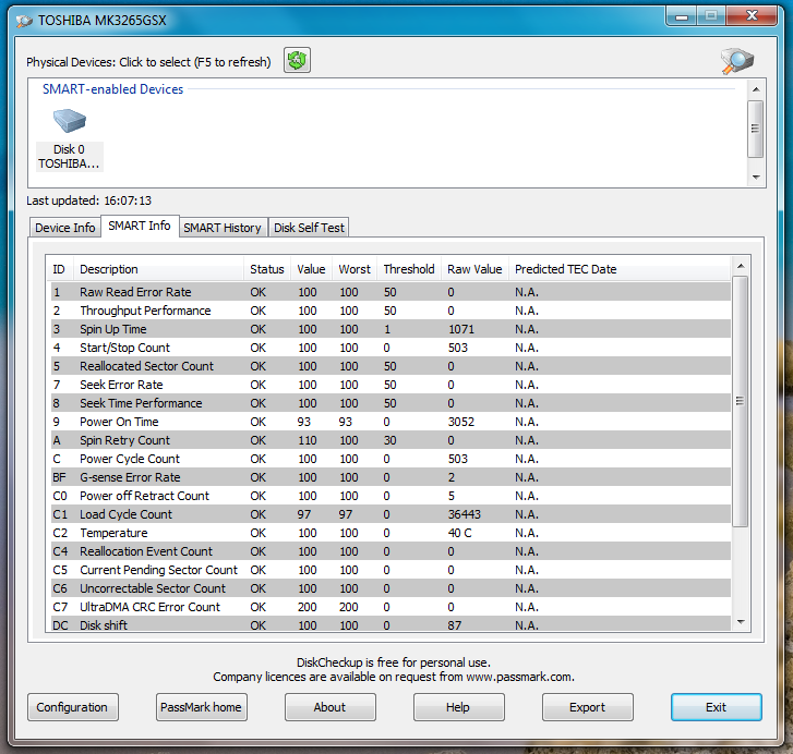 DiskCheckup - программа для проверки жестких дисков и отображения информации об их состоянии (1)