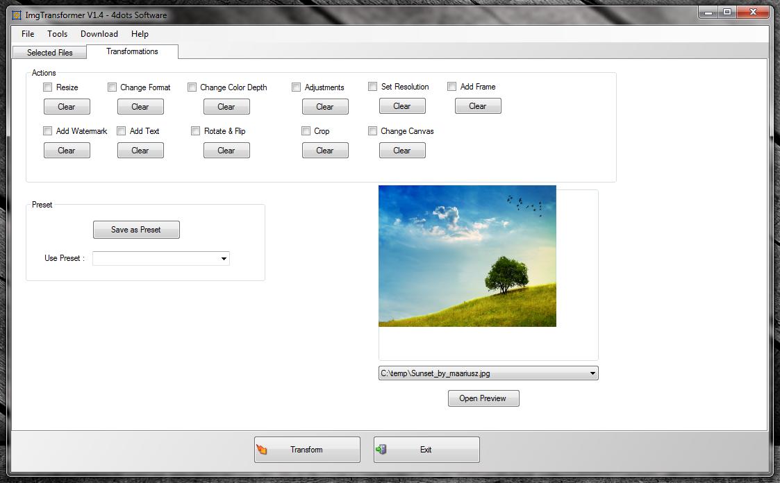 ImgTransformer - программа для массового изменения изображений за один шаг (9)