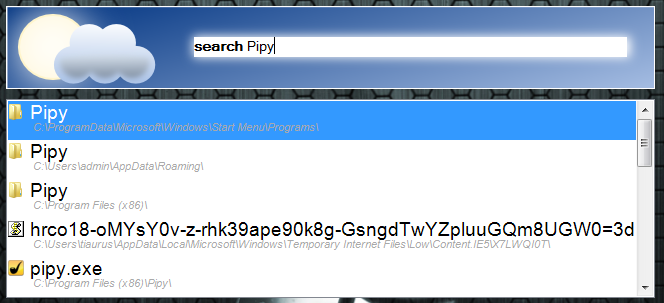 Pipy - быстрый лаунчер с возможностью моментального локального и онлайнового поиска (3)