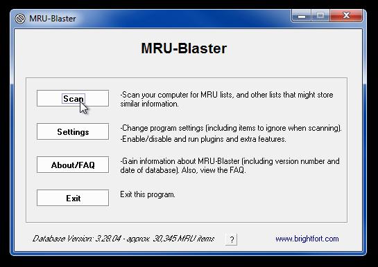 MRU-Blaster - утилита для очистки логов и истории, сохраняемых системой и установленными программами (4)