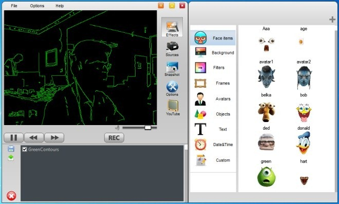 WebCamEffects - программа, добавляющая забавные эффекты к изображениям, снимаемым на веб-камеру (4)