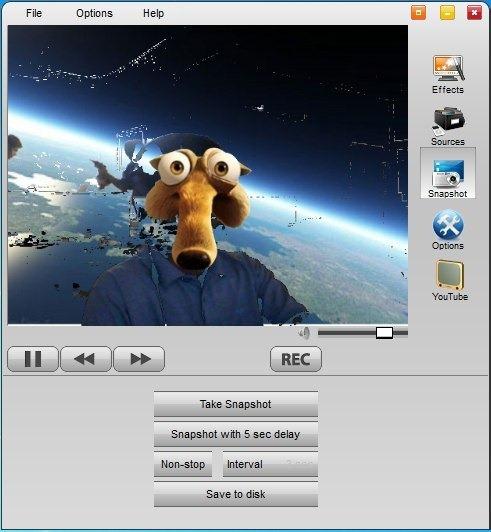 WebCamEffects - программа, добавляющая забавные эффекты к изображениям, снимаемым на веб-камеру (2)