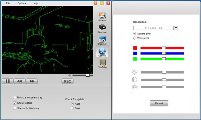 WebCamEffects - программа, добавляющая забавные эффекты к изображениям, снимаемым на веб-камеру (3)