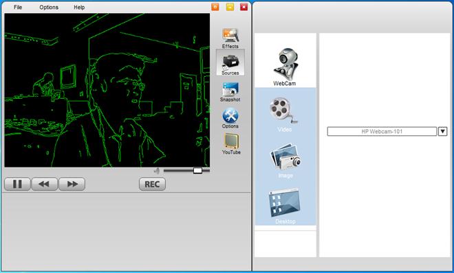 WebCamEffects - программа, добавляющая забавные эффекты к изображениям, снимаемым на веб-камеру (1)