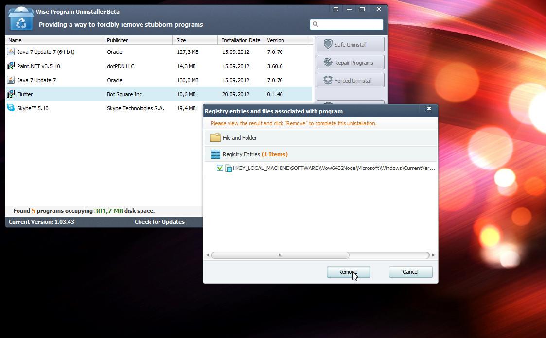 Wise Program Uninstaller - портабельная утилита для удаления установленных в системе программ (2)