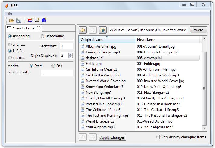 FiRE - удобная программа для массового переименования файлов, используя шаблоны и мета-данные (3)