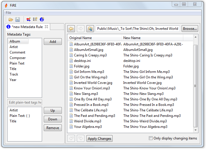 FiRE - удобная программа для массового переименования файлов, используя шаблоны и мета-данные (2)