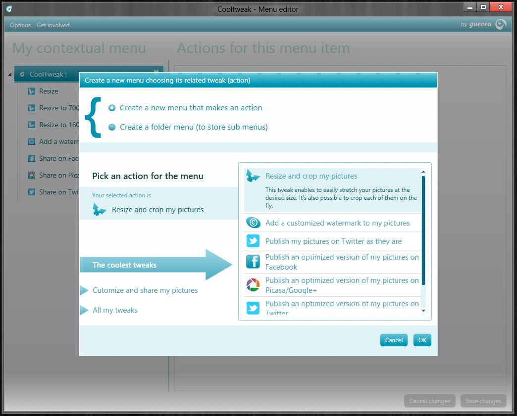 Cooltweak - удобная утилита для пакетного изменения размеров изображений, запускаемая из контекстного меню (3)