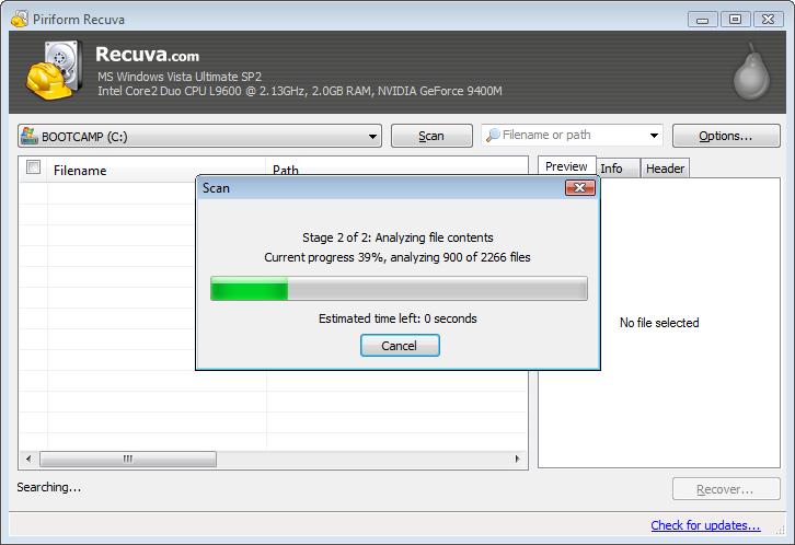 Recuva - легкая, простая программа для восстановления удаленных файлов с жестких дисков и карт памяти (5)