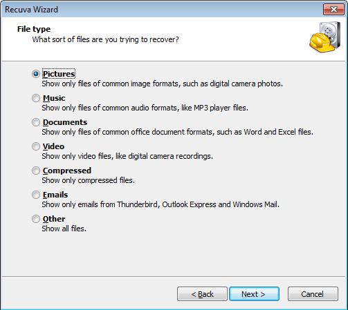 Recuva - легкая, простая программа для восстановления удаленных файлов с жестких дисков и карт памяти (1)