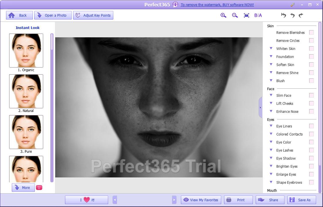 Perfect365 — мейкап для ваших фотографий